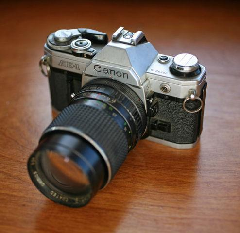 Canon AE-1 - Vintage 35mm Film Camera with