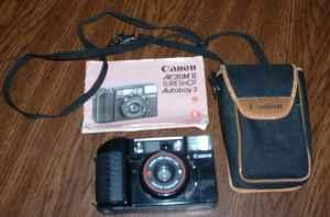 CANON AF35M II SURE SHOT CAMERA, CASE, & MANUAL (MT.