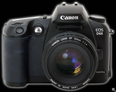 Canon D60. 6 MEGAPIXEL WITH BATTERY  CHARGER. - $600