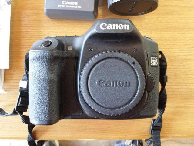 Canon EOS 50D with 4 lenses EF100-400mm only 1019