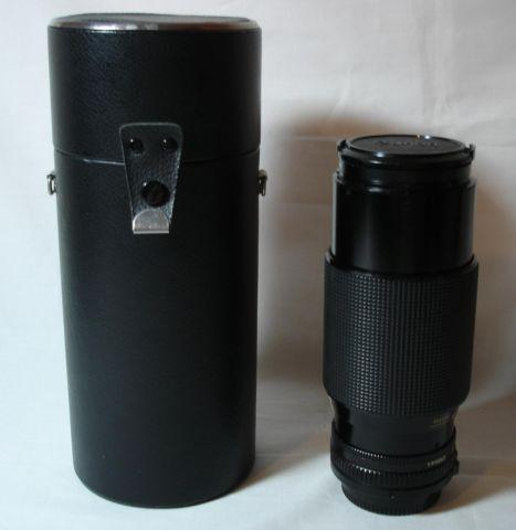 CANON FD 70-120mm Zoom Lens w/filter, hard case,