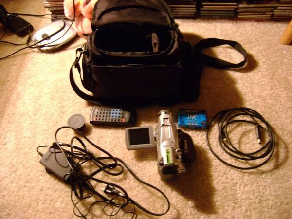 Canon mini DV / digital video camera - $30