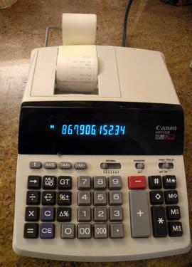 California Tax Calculator >> Canon MP-25DIII Scientific Calculator Desktop Printing Calculator for Sale in Encinitas ...