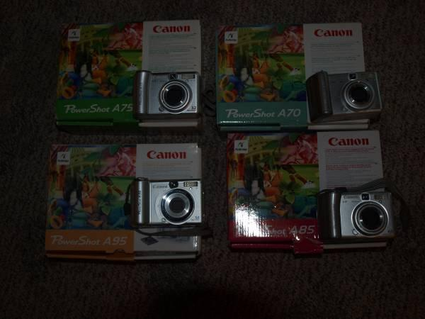 Canon Power Shot Digital Cameras - $15