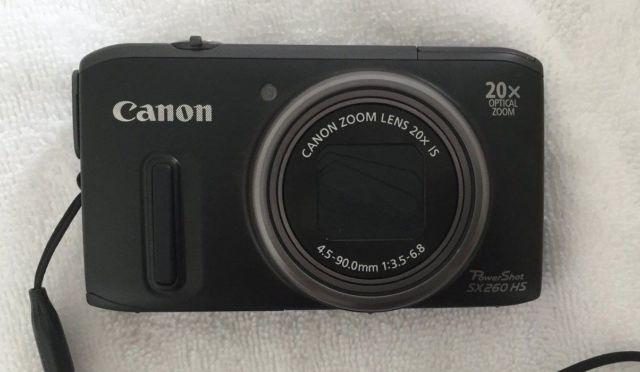 Canon PowerShot SX260 HS 12.1 MP Digital Camera - Black