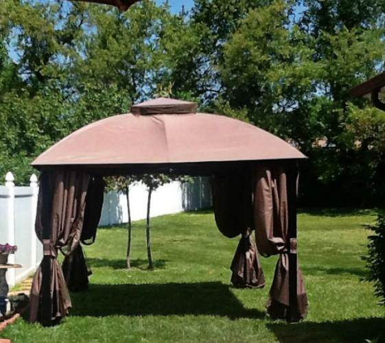 Canopy Style Gazebo Brown For Sale In Clinton
