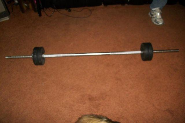 Cap Barbell 1 Inch Standard Weight Lifting Bar 6 Ft For