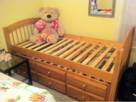 Captain twin bed - $150 (Worcester ma)