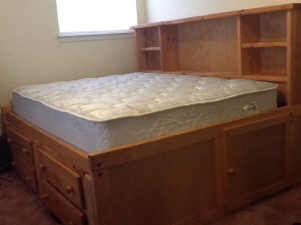 Captains full size bed with mattress Amarillo TX for