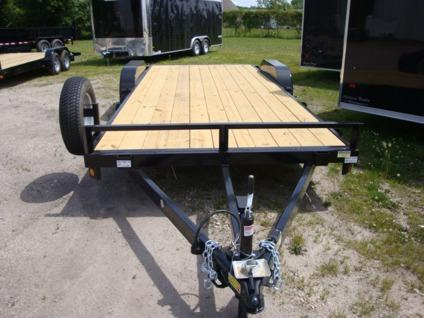 Car Trailer Flat Bed Wood Deck Trailer