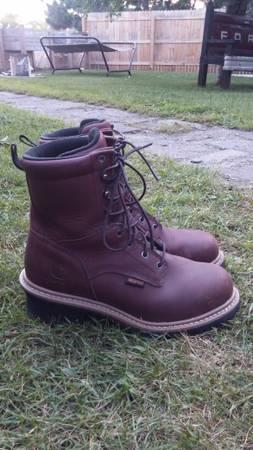 Carhartt leather steel toe boots 8.5 excellent