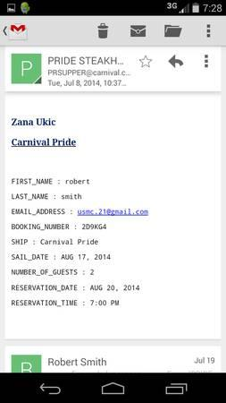 carnival cruise for 2 in bahamas - $1300