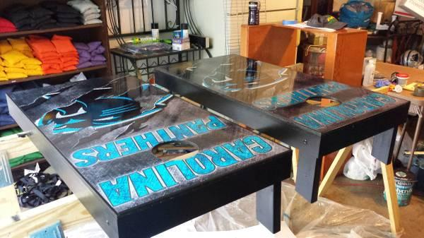 Carolina Panthers Corn Hole Boards For Sale In Fort Mill South