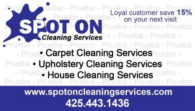 Carpet cleaning Special