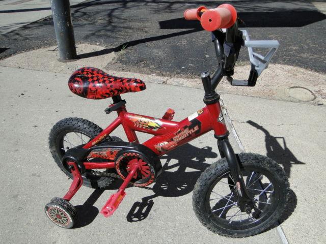 Cars Lightning Mcqueen Kids Bike Bicycle with Training Wheels