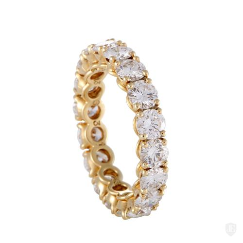 Cartier 18K Yellow Diamond Eternity Band Ring