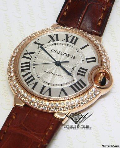 Cartier Ballon Bleu 18k Rose Gold Diamond 36mm