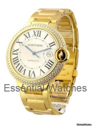 Cartier ballon bleu large size with diamond case yellow for Cartier in beverly hills