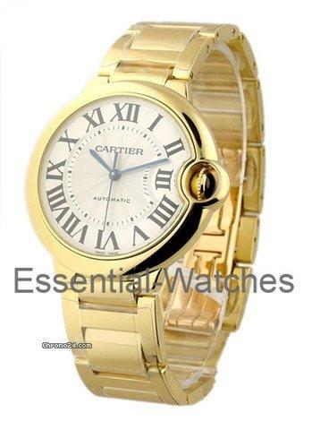 Cartier ballon bleu medium 36mm yellow gold on bracelet for Cartier in beverly hills
