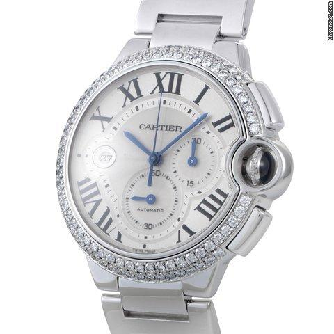 Cartier Ballon Bleu Mens Automatic Chronograph Watch