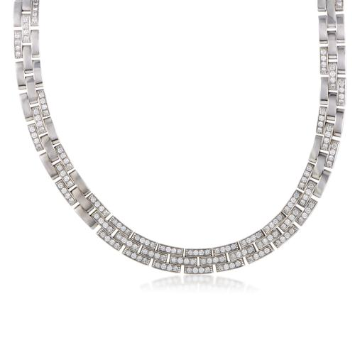 Cartier Maillon Panthere 18K White Gold Diamond Pave
