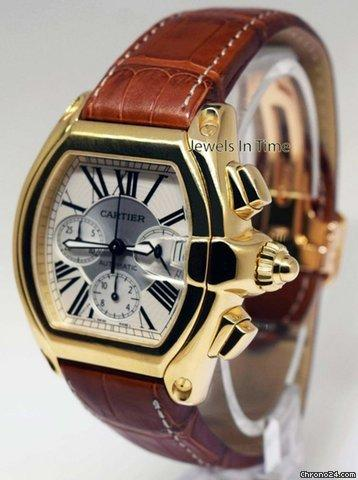 Cartier Roadster Chronograph XL 18k Gold Mens Automatic
