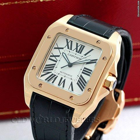 24264bf415c36 Cartier Santos 100 XL Automatic 18K Rose Gold W20095Y1 for Sale in ...