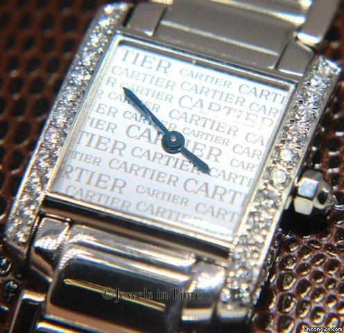 Cartier Tank Francaise Anniversary 18k White Gold