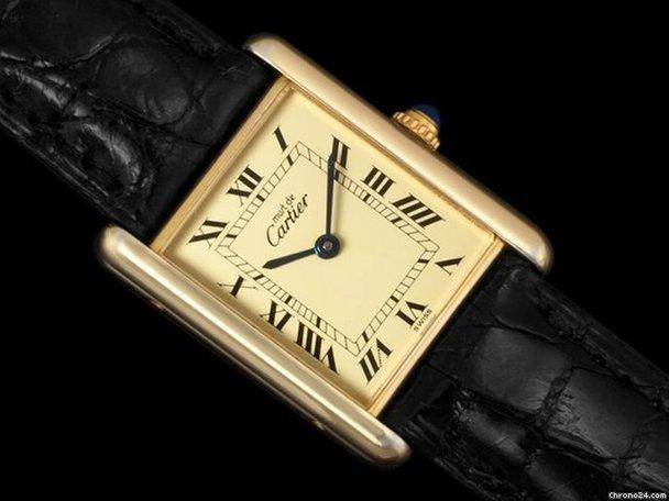 Cartier Gold Watch Mens Cartier Mens Tank Watch