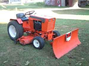 Case, Ingersoll 446 Tractor, Snow Blade And Mower