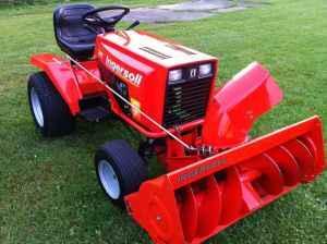 case ingersoll garden tractor with snowblower 65 hours