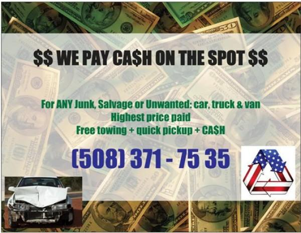 $ CASH FOR JUNK / UNWANTED CAR, TRUCK & VAN: ALL MAKES