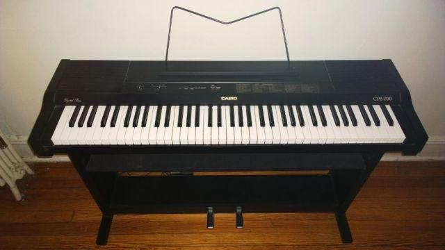 casio cps 700 76 key digital piano midi controller w built in shelfs for sale in town center. Black Bedroom Furniture Sets. Home Design Ideas