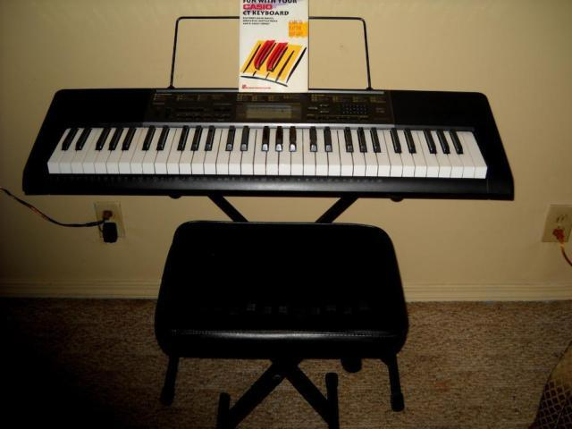 Casio CTK-2020 with stand, seat & more