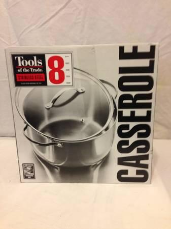 Casserole pan with lid, 8 quart WS 10 - $20
