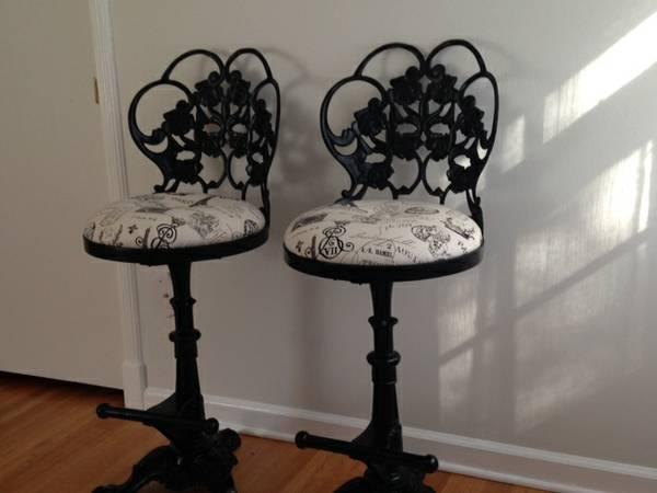 Cast Iron Antique Counter Stools For Sale In Memphis