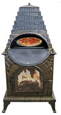 CAST IRON CHIMINEA PIZZA OVEN