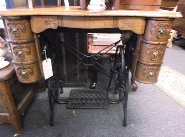 Cast Iron  Oak Desk - $200