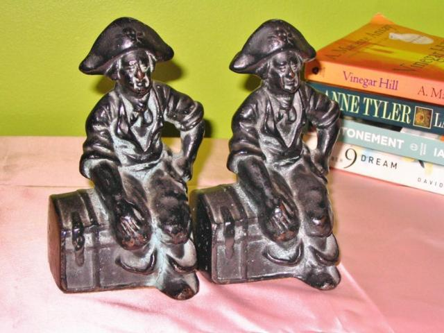 Cast Iron Pirate Bookends