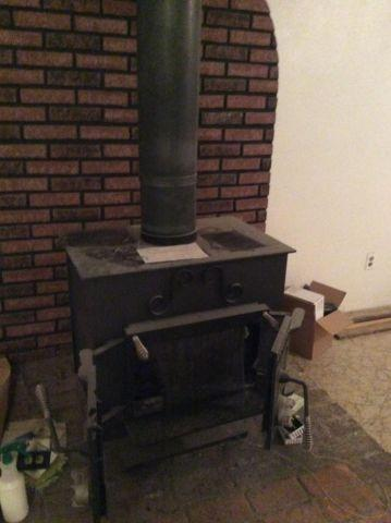 Cast Iron Schrader Wood Burning Stove For Sale In Salem