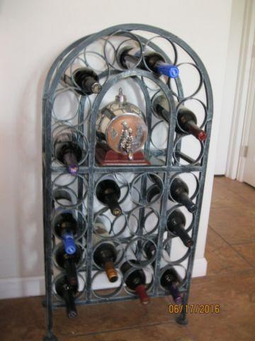 Cast Iron Wine Rack - Hand-crafted