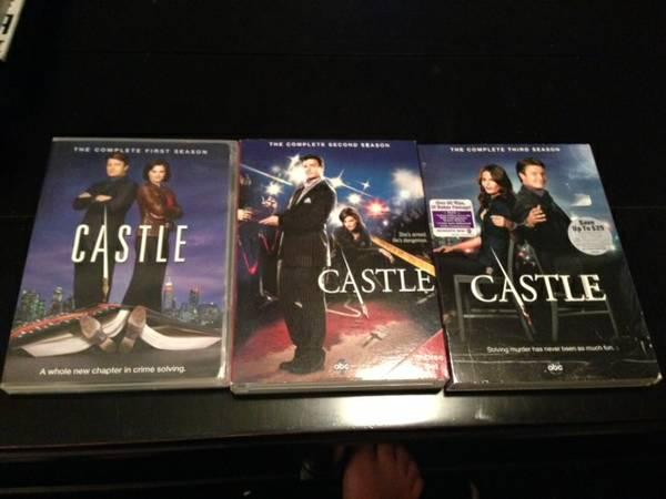 Castle Seasons 1, 2, and 3 - $20