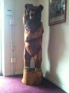 Cedar 5 ft hand carved Bear - $1500 (Tuscaloosa )