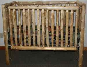 Cedar Pine Log Crib Handmade (1 Left)   $300 (Dover,
