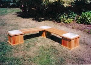 Cedar Planter Bench With Lined Boxes Willamette Valley For Sale In