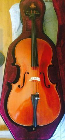 CELLO handmade in germany, full size w bow and hard case