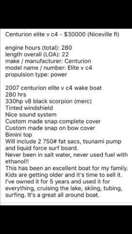 Centurion wake boat