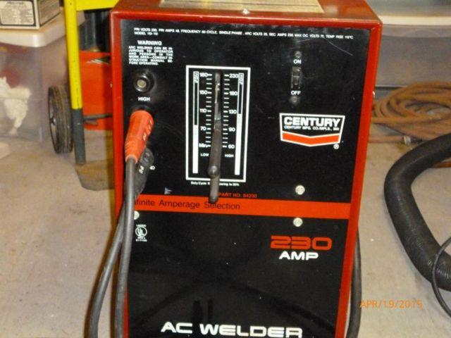 Century 230 Amp Stick Welder For Sale In Pineville