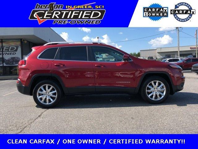 Certified 2016 Jeep Cherokee 4WD Limited GREER, SC