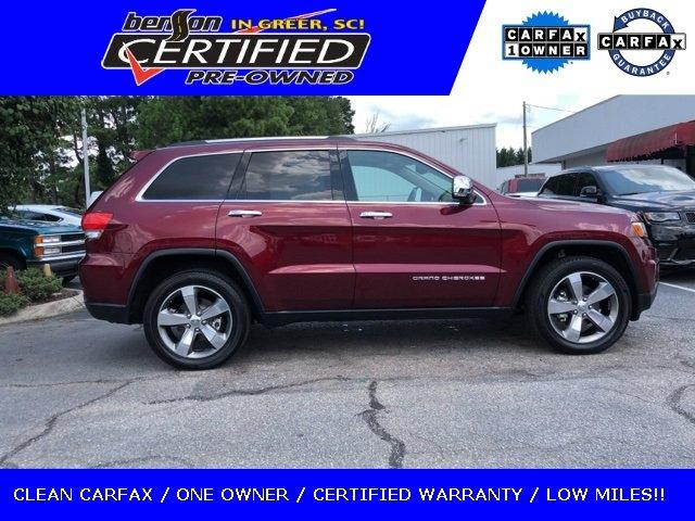 Certified 2016 Jeep Grand Cherokee 2WD Limited GREER,